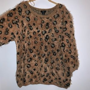 F&F animal print eyelash knit (Size 18)